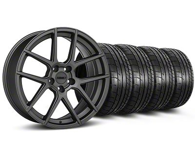 MMD Zeven Charcoal Wheel & Mickey Thompson Tire Kit - 19x8.5 (15-19 All)