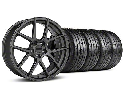 Staggered MMD Zeven Charcoal Wheel & Sumitomo Tire Kit - 19x8.5/10 (15-19 All)