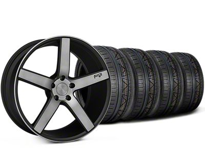 Niche Milan Matte Black Machined Wheel & NITTO INVO Tire Kit - 20x8.5 (15-19 All)