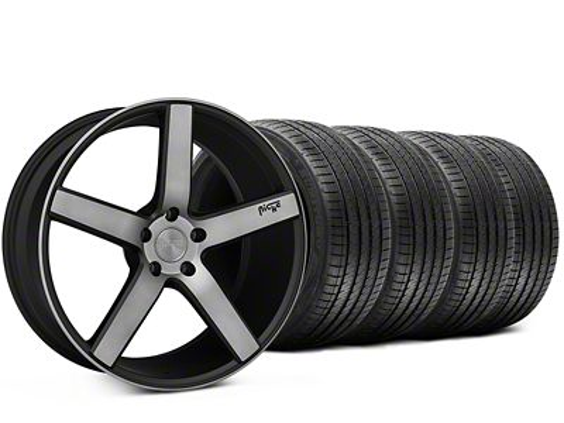 Niche Milan Matte Black Machined Wheel & Sumitomo Tire Kit - 20x8.5 (15-19 All)