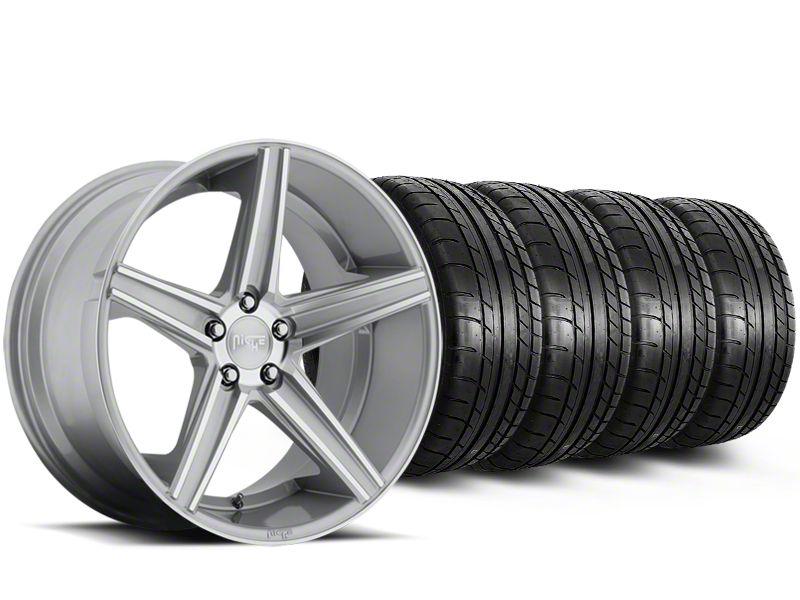 Niche Apex Machined Silver Wheel & Mickey Thompson Tire Kit - 20x8.5 (15-19 All)