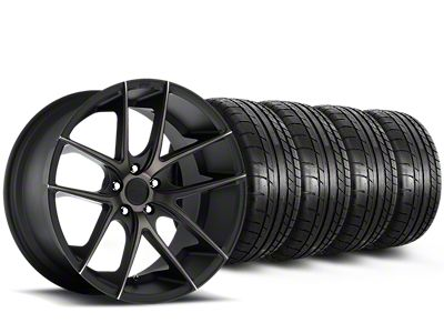 Niche Targa Black Wheel & Mickey Thompson Tire Kit - 20x8.5 (15-19 All)