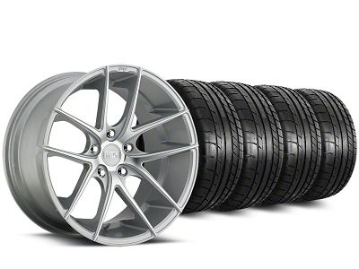 Staggered Niche Targa Matte Silver Wheel & Mickey Thompson Tire Kit - 20 in. - 2 Rear Options (15-19 All)