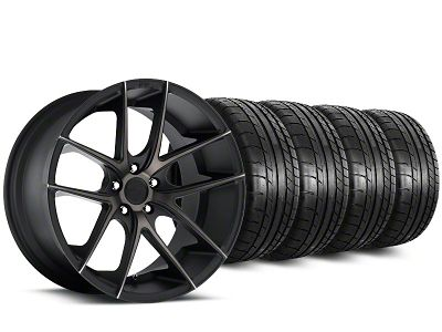 Staggered Niche Targa Black Wheel & Mickey Thompson Tire Kit - 20 in. - 2 Rear Options (15-19 All)