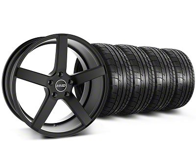 Staggered MMD 551C Black Wheel & Mickey Thompson Tire Kit - 20 in. - 2 Rear Options (15-19 GT, EcoBoost, V6)
