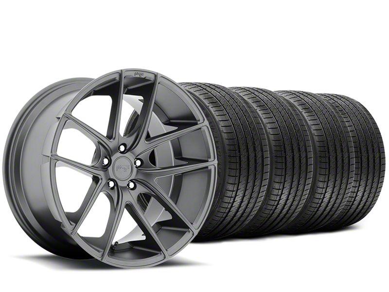 Staggered Niche Targa Matte Anthracite Wheel & Sumitomo Tire Kit - 20x8.5/10 (15-19 All)