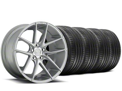 Staggered Niche Targa Matte Silver Wheel & Sumitomo Tire Kit - 20x8.5/10 (15-19 All)