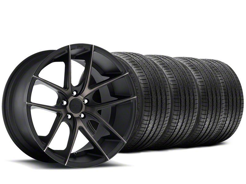 Staggered Niche Targa Black Wheel & Sumitomo Tire Kit - 20x8.5/10 (15-19 All)