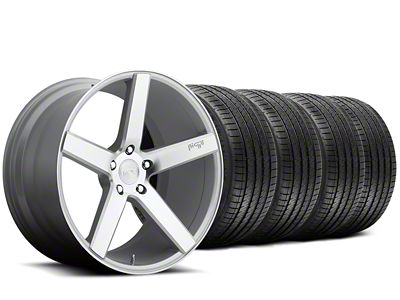 Staggered Niche Milan Silver Wheel & Sumitomo Tire Kit - 20x8.5/10 (15-19 All)