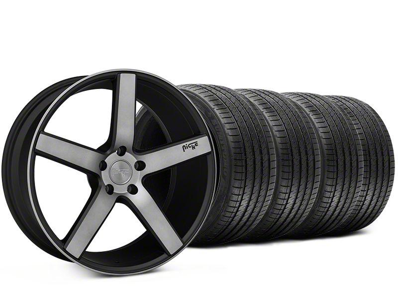 Staggered Niche Milan Matte Black Machined Wheel & Sumitomo Tire Kit - 20x8.5/10 (15-19 All)