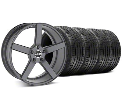 Staggered MMD 551C Charcoal Wheel & Sumitomo Tire Kit - 20x8.5/10 (15-19 GT, EcoBoost, V6)