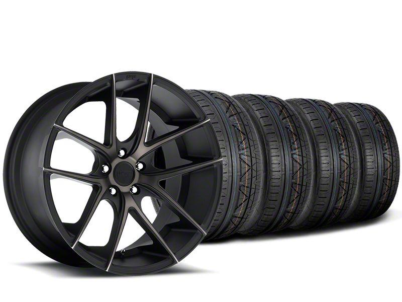 Staggered Niche Targa Black Wheel & NITTO INVO Tire Kit - 20x8.5/10 (15-19 All)