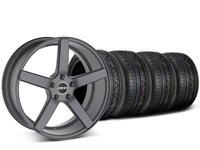 Staggered MMD 551C Charcoal Wheel & NITTO INVO Tire Kit - 20x8.5/10 (15-19 GT, EcoBoost, V6)