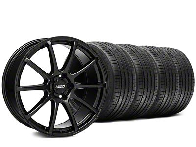 MMD Axim Gloss Black Wheel & Sumitomo Tire Kit - 20x8.5 (15-19 GT, EcoBoost, V6)