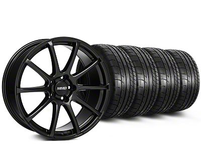 MMD Axim Gloss Black Wheel & Mickey Thompson Tire Kit - 20x8.5 (15-19 GT, EcoBoost, V6)