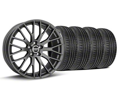Staggered Performance Pack Style Charcoal Wheel & Sumitomo Tire Kit - 19x8.5/10 (15-19 All)
