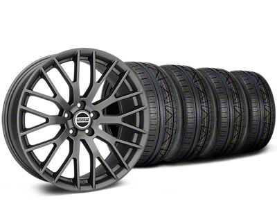 Staggered Performance Pack Style Charcoal Wheel & NITTO INVO Tire Kit - 19x8.5 (15-19 All)