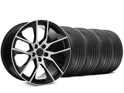 Staggered Magnetic Style Black Machined Wheel & Sumitomo Tire Kit - 20x8.5/10 (15-19 GT, EcoBoost, V6)