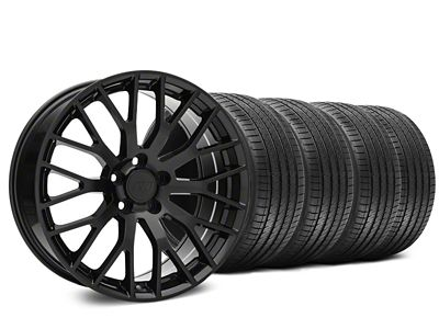 Staggered Performance Pack Style Black Wheel & Sumitomo Tire Kit - 20x8.5/10 (15-19 GT, EcoBoost, V6)