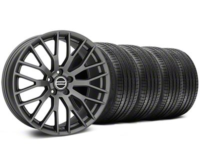 Staggered Performance Pack Style Charcoal Wheel & Sumitomo Tire Kit - 20x8.5/10 (15-19 All)