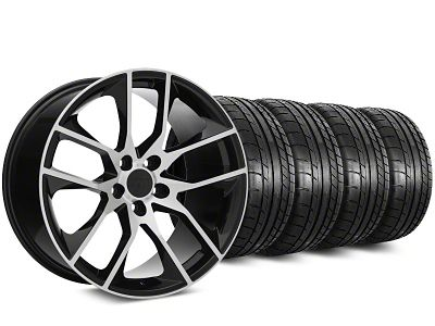 Staggered Magnetic Style Black Machined Wheel & Mickey Thompson Tire Kit - 20 in. - 2 Rear Options (15-19 GT, EcoBoost, V6)