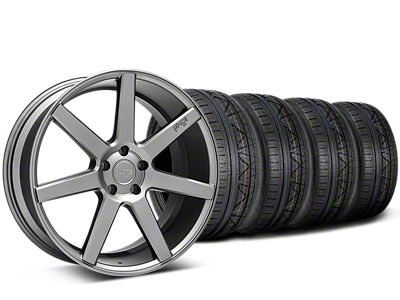 Staggered Niche Verona Anthracite Wheel & NITTO INVO Tire Kit - 20x9/10 (15-19 All)
