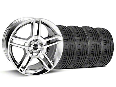 Staggered 2010 GT500 Style Chrome Wheel & Sumitomo Tire Kit - 19x8.5/10 (15-19 GT, EcoBoost, V6)