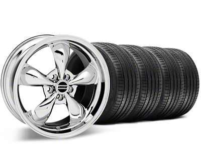 Staggered Bullitt Chrome Wheel & Sumitomo Tire Kit - 20x8.5/10 (15-19 EcoBoost, V6)