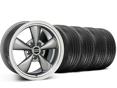 Staggered Bullitt Anthracite Wheel & Sumitomo Tire Kit - 20x8.5/10 (15-19 EcoBoost, V6)