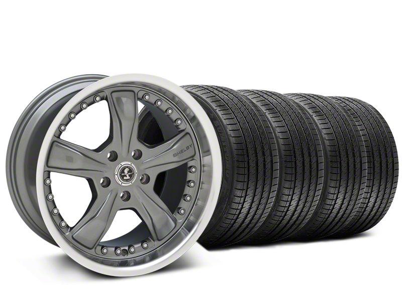 Staggered Shelby Razor Gunmetal Wheel & Sumitomo Tire Kit - 20x9/10 (15-19 All)