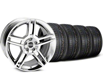 Staggered 2010 GT500 Style Chrome Wheel & NITTO INVO Tire Kit - 19x8.5/10 (15-19 All)