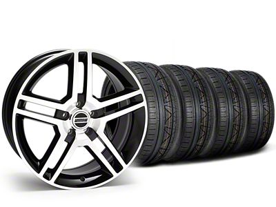 Staggered 2010 GT500 Style Black Machined Wheel & NITTO INVO Tire Kit - 19x8.5/10 (15-19 All)