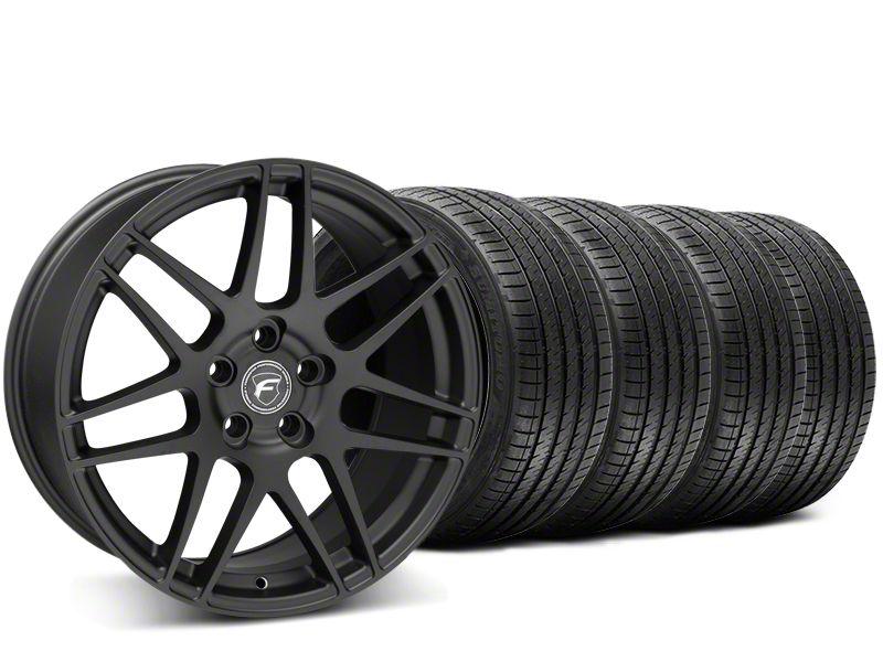 Forgestar F14 Monoblock Matte Black Wheel & Sumitomo Tire Kit - 20x9 (15-19 GT, EcoBoost, V6)