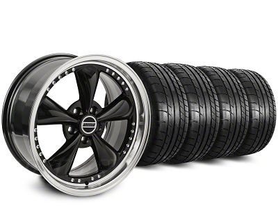Staggered Bullitt Motorsport Black Wheel & Mickey Thompson Tire Kit - 20 in. - 2 Rear Options (15-19 EcoBoost, V6)