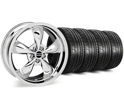 Staggered Deep Dish Bullitt Chrome Wheel & Mickey Thompson Tire Kit - 20 in. - 2 Rear Options (15-19 EcoBoost, V6)