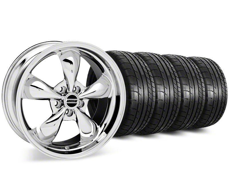 Staggered Deep Dish Bullitt Chrome Wheel & Mickey Thompson Tire Kit - 20 in. - 2 Rear Options (15-19 EcoBoost, V6)