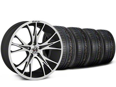 Staggered Shelby CS1 Black Machined Wheel & NITTO INVO Tire Kit - 20x9/11 (15-19 All)