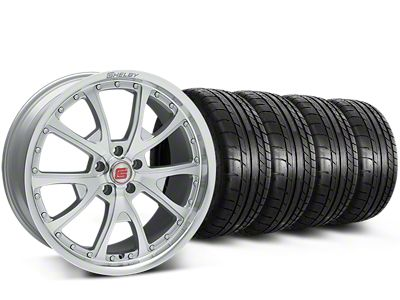 Shelby CS40 Silver Machined Wheel & Mickey Thompson Tire Kit - 20x9 (15-17 All)