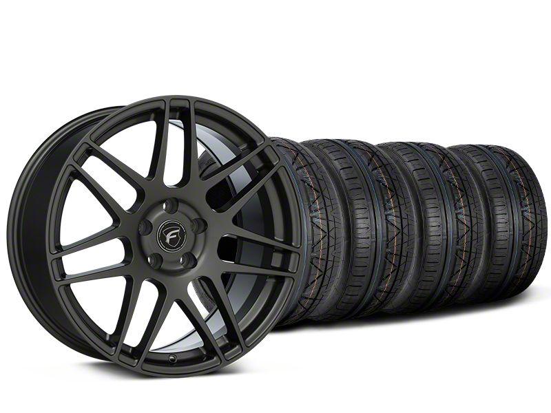 Staggered Forgestar F14 Monoblock Gunmetal Wheel & NITTO INVO Tire Kit - 20x9/11 (15-19 GT, EcoBoost, V6)