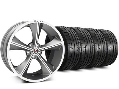 Staggered Shelby CS70 Gunmetal Wheel & Mickey Thompson Tire Kit - 20 in. - 2 Rear Options (15-19 All)