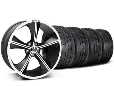 Staggered Shelby CS70 Matte Black Wheel & NITTO INVO Tire Kit - 20x9/10 (15-19 All)