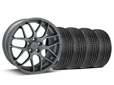 AMR Charcoal Wheel & Sumitomo Tire Kit - 19x8.5 (15-19 GT, EcoBoost, V6)