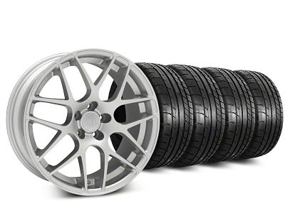 Staggered AMR Silver Wheel & Mickey Thompson Tire Kit - 19x8.5/10 (15-19 GT, EcoBoost, V6)