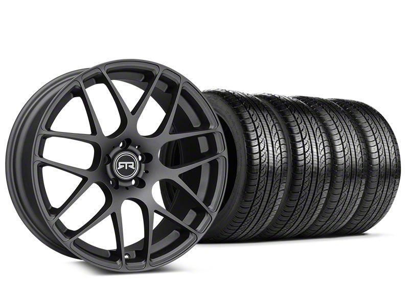 RTR Charcoal Wheel & Pirelli Tire Kit - 19x9.5 (15-19 GT, EcoBoost, V6)