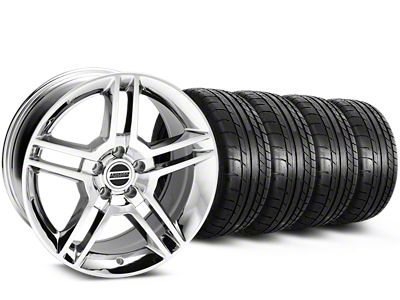 Staggered 2010 GT500 Style Chrome Wheel & Mickey Thompson Tire Kit - 19x8.5/10 (15-19 All)
