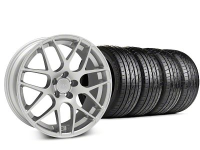 Staggered AMR Silver Wheel & Sumitomo Tire Kit - 19x8.5/10 (15-19 GT, EcoBoost, V6)