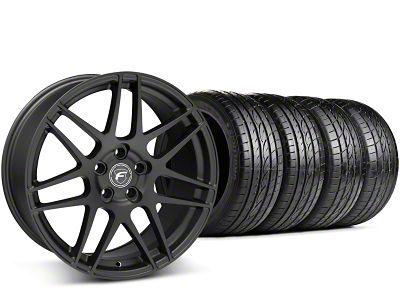 Staggered Forgestar F14 Matte Black Wheel & Sumitomo Tire Kit - 19x9/10 (15-19 GT, EcoBoost, V6)