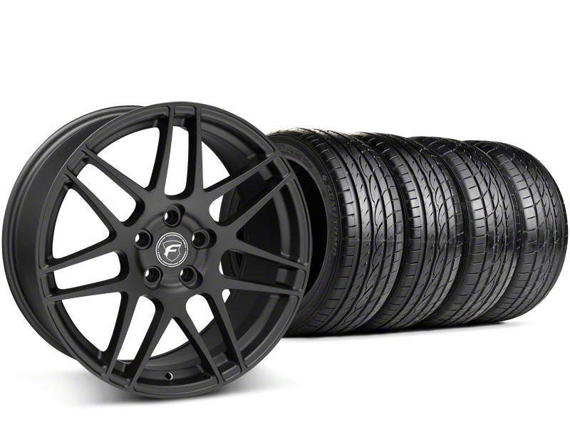 Staggered Forgestar F14 Matte Black Wheel & Sumitomo Tire Kit - 19x9/10 (15-19 GT, EcoBoost, V6)