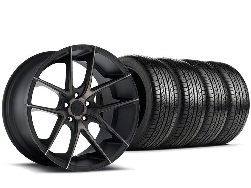 Staggered Niche Targa Black Wheel & Pirelli Tire Kit - 19x8.5/9.5 (15-19 All)