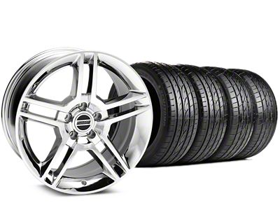 2010 GT500 Style Chrome Wheel & Sumitomo Tire Kit - 19x8.5 (15-19 GT, EcoBoost, V6)